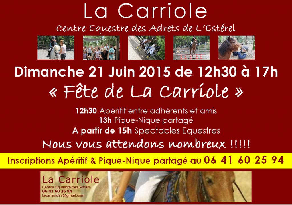 Fête de La Carriole 21 Juin 2015 Adhérents