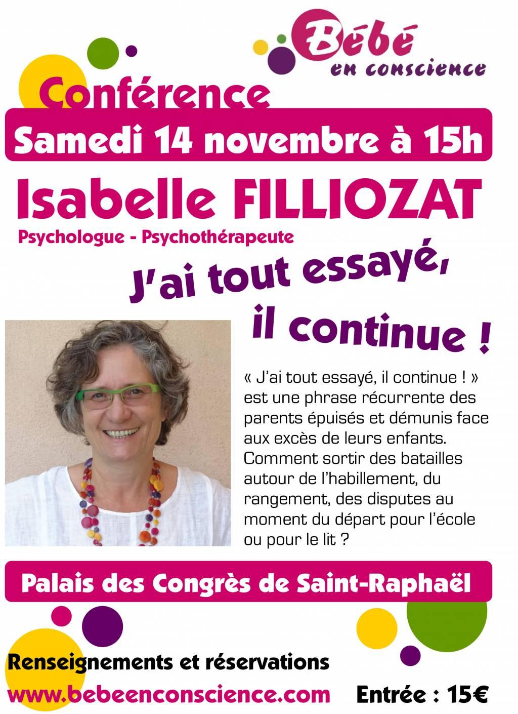 Affiche Conférence Isabelle Filliozat 2015