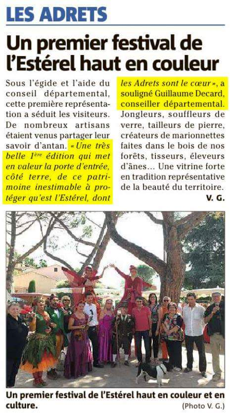 festival esterel article de presse