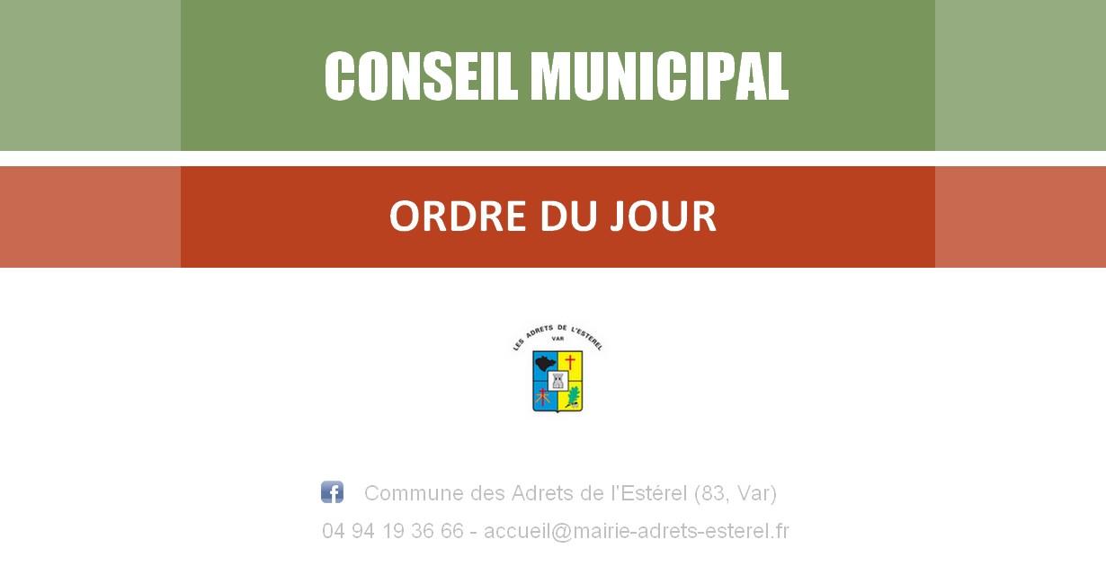 Conseil municipal – Mardi 28 septembre 2021