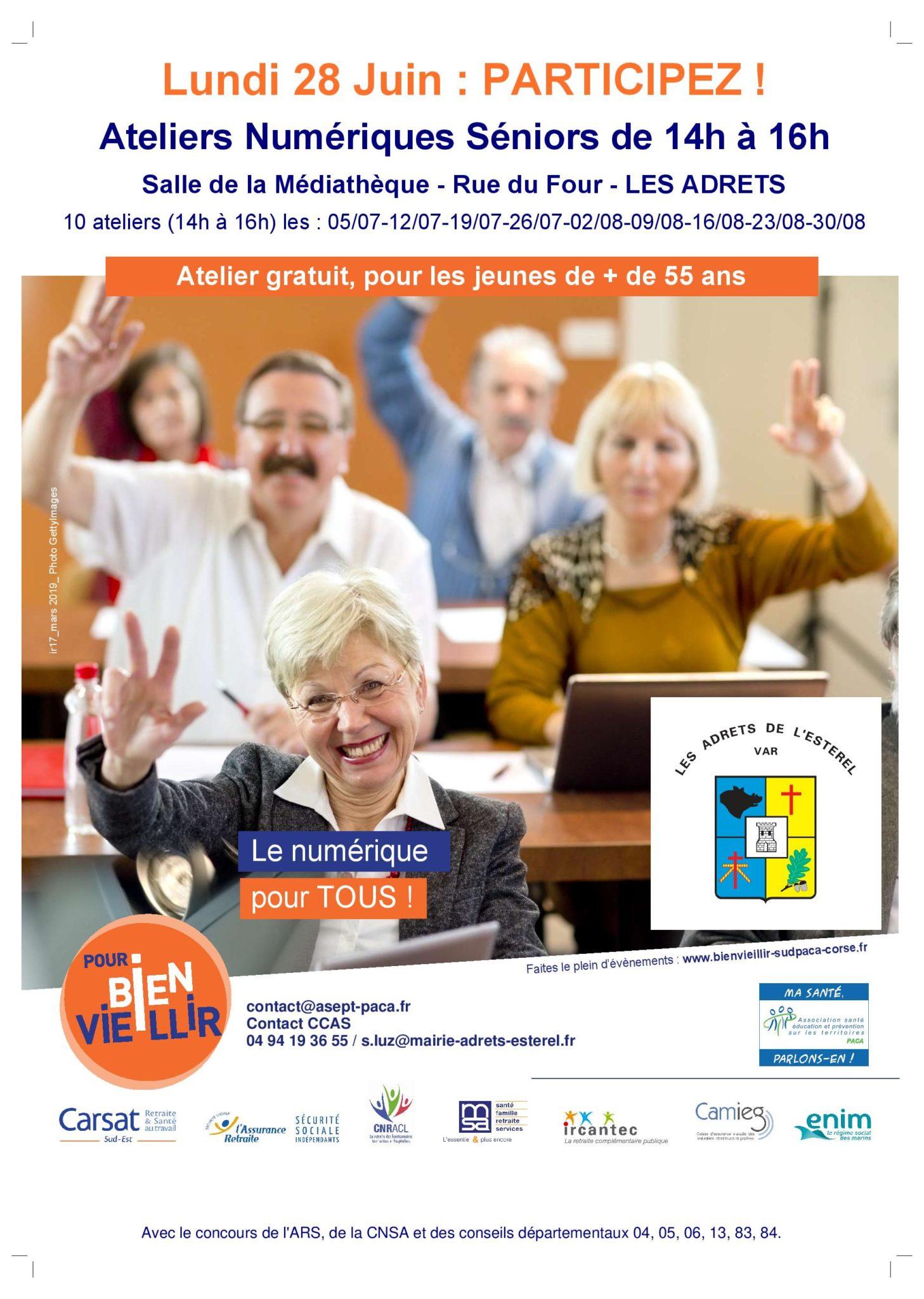 28/06 au 30/08/21- Ateliers numériques pour séniors
