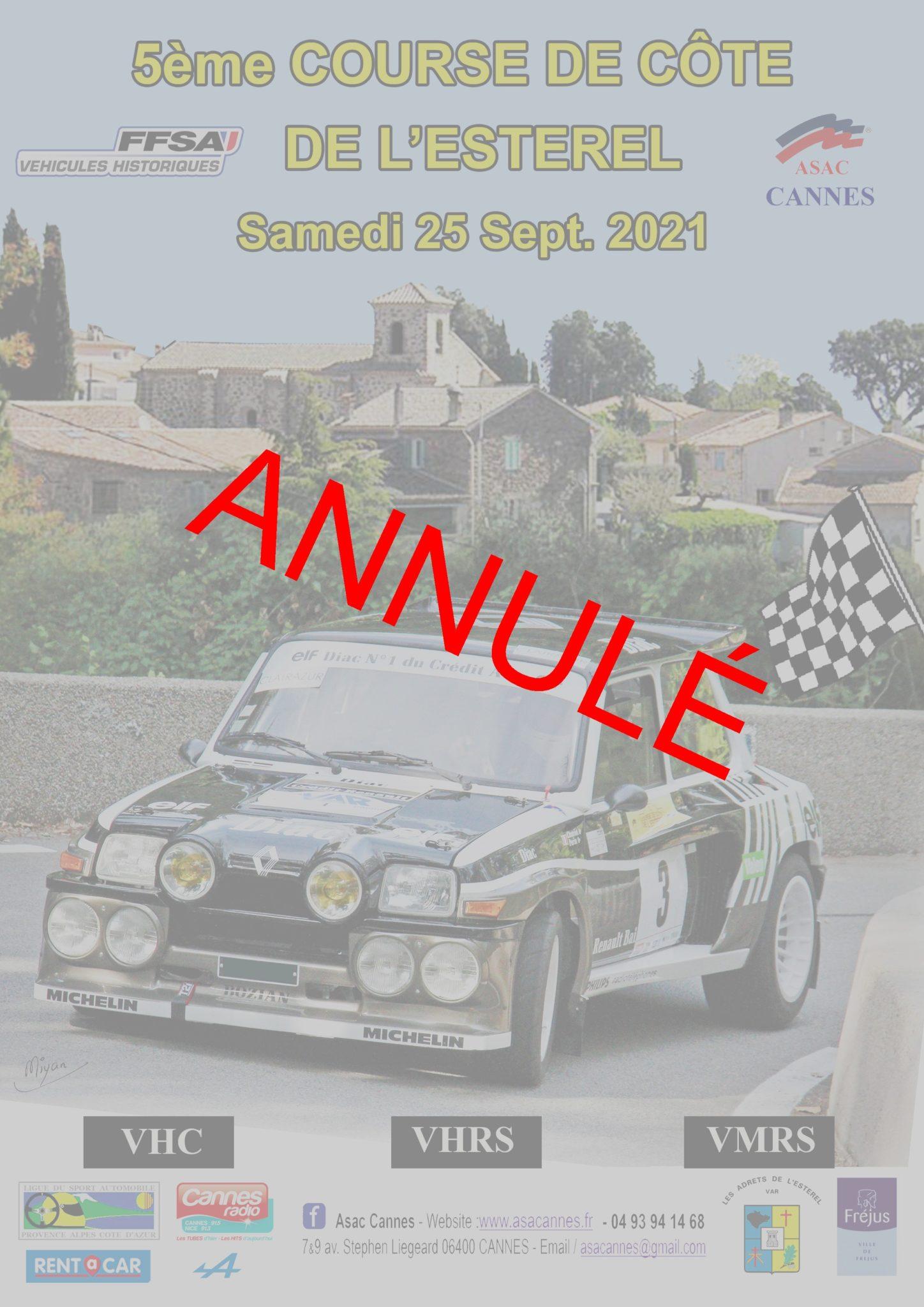 ANNULÉ – 25/09/2021 – 5ème course de côte