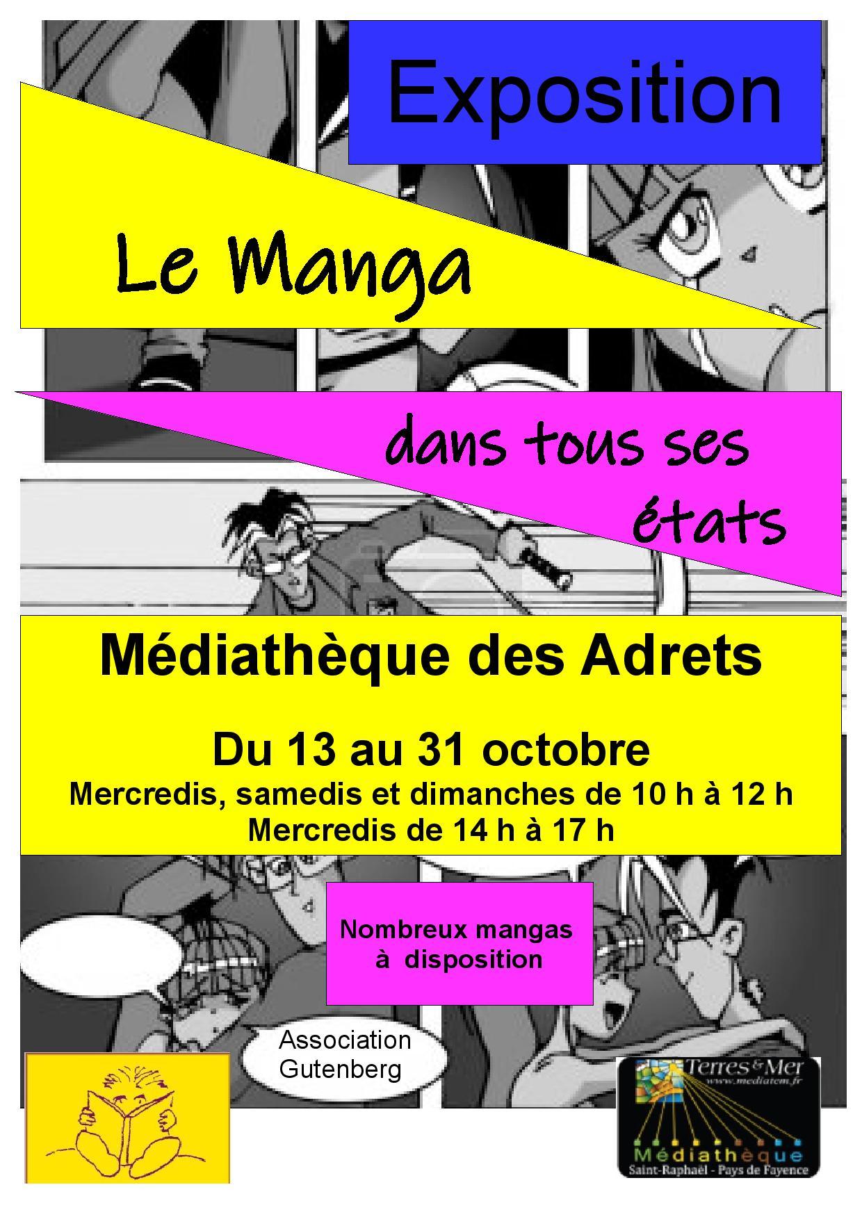 Du 13 au 31/10/21 – Exposition – Le Manga dans tous ses états